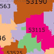 rock zip code map rock county wisconsin zip code boundary map wi