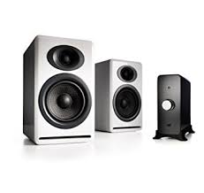 audioengine p4 passive bookshelf speakers and n22