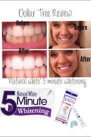 dollar tree review natural white five minute whitening