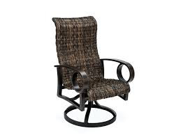 Plastic High Back Patio Chairs High Back Resin Chairs Innovative Outdoor Swivel Dining Chairs