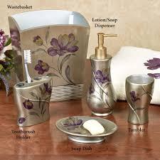 Lavender Bathroom Accessories by Tulipa Floral Bath Accessories