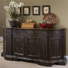 Slaters Furniture Modesto by Hooker Furniture Chests And Consoles Hand Painted Black Serpentine
