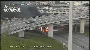 Houston Transtar Traffic Map 18 Wheeler Flips And Catches Fire At Highway 59 And 288