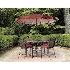 High Top Patio Furniture by Garden Oasis Sc 160 5bset Van Buren 5pc Cushion Sling High