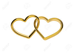 symbol of ring in wedding 3d golden hearts connected together linked rings marriage symbol