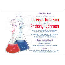 love bond chemistry wedding invitation