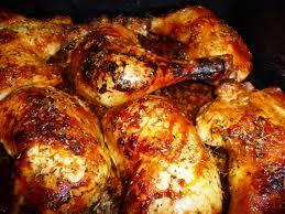 cuisiner des cuisse de poulet cuisses de poulet marinées et rôties les recettes de virginie