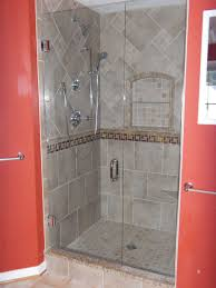 Bathroom  Cool Shower Tiles Ideas With White Plaid Tiles Wall And - Bathroom shower stall tile designs