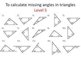 triangles identifying and finding missing angles hacks