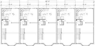 five bedroom floor plans 5 unit house plans 5 unit townhouse plans 2 bedrooms fv 568