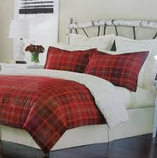 martha stewart appleton plaid flannel king duvet cover red ebay