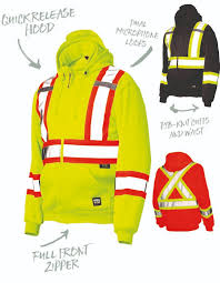 hi vis unlined zipper hoodie work king s494