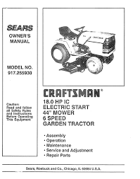 craftsman 917 255930 owner s manual