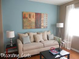 classy ideas for living room paint colors featuring blue wall