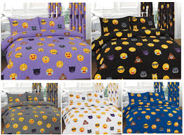 emoji icons emotions faces printed duvet cover bedding set or
