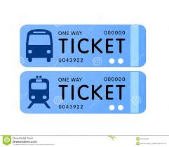 bus and train ticket vector stock vector image 10013150