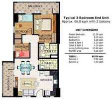 Condominium Plans Illumina Residences 2 Bedroom Unit Floor Plan B Condominium