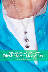 mothers day birthstone necklace handmade s day birhtstone necklace