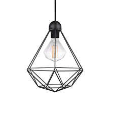 wire pendant light fixtures nordlux tees geometric cage wire pendant light black lsy