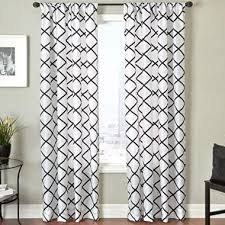 Black And White Window Curtains Black And White Curtain Panel 100 Images Diy Black White