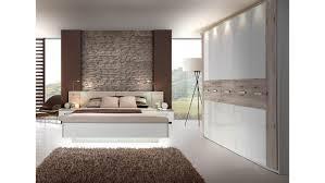 Schlafzimmer Komplett Led 2 Rondino Komplettset In Sandeiche Weiß Hochglanz Mit Led