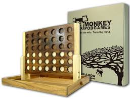 amazon com monkey pod games extra large wooden four in a row game