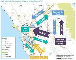 Commute Map Meeting Ambitious Reduction Goals Bay Area Council Economic