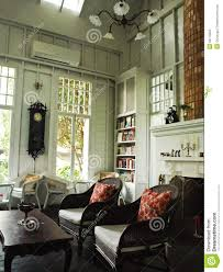 an interior of white english cottage room royalty free stock photo