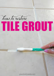 like the secret to restoring your dirty tile grout this is so