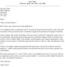 Ict Cover Letter it support covering letter 75 images application letter it