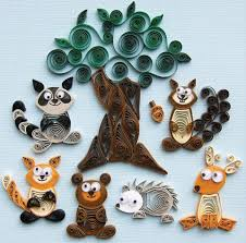easy quilling patterns a well quilling and woodland creatures