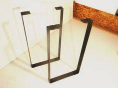 Typical Coffee Table Height by Cold Rolled Flat Steel U Shaped Legs Rusted Light Medium Or
