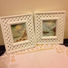 home interiors picture frames homco seashore print cottage white lattice frame home interiors vtg