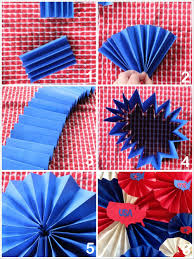 white paper fans diy paper and fans to decorate for the 4th of july