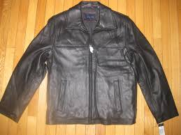 Tommy Hilfiger Wallpaper by New Men U0027s Tommy Hilfiger Black Leather Medium Jacket 450 Ebay