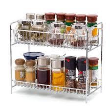 kitchen cabinet spice rack organizer 2 tier spice rack ezoware kitchen countertop 2 tier storage