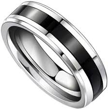 black fashion rings images Fashion new trendy couple rings design black titanium band jpg