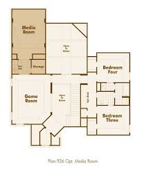 House Plans With Media Room Highland Homes 926 Floor Plan Upstairs With Media Room And