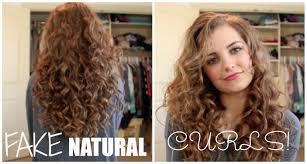 how to fake naturally curly hair youtube