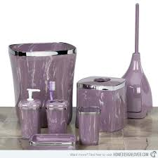 elegant bathroom with purple bathroom accessories home design and