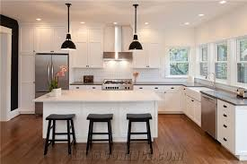 Solid Surface Kitchen Countertops by Tiffany Grey And Aspen White Solid Surface Kitchen Countertop From