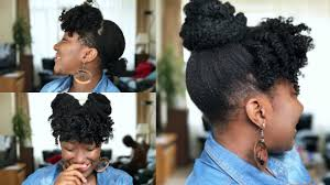 natural hair bun styles with bang faux curly bangs and bun on natural hair thin fine 4c