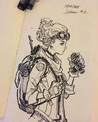 some victorian alike sketching mostly markers and a bit of pencil