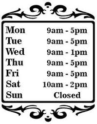 business opening times signs international visual