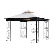 Sunbrella Replacement Canopy by Sunjoy Replacement Canopy For 10 Ft X 10 Ft Gazebo 110109017