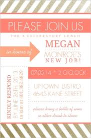 lunch invitation modern coral and gold lunch invitation lunch invitations