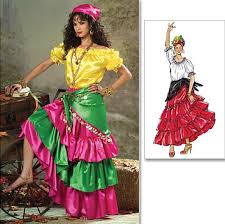 Peasant Halloween Costume Gypsy Costume Halloween Costume Pattern Size Tier Ruffle