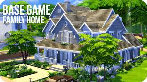 sims 4 speed build base game family home youtube