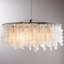 capiz flush mount light modern capiz shell linear chandelier shades of light