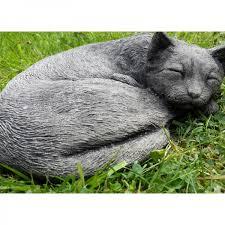sleeping cat garden ornament onefold uk